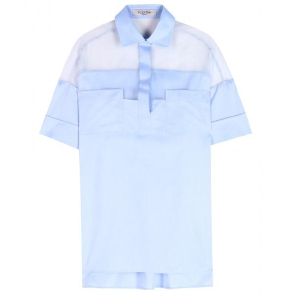 P00096153-Cotton-shirt-with-silk-organza--STANDARD