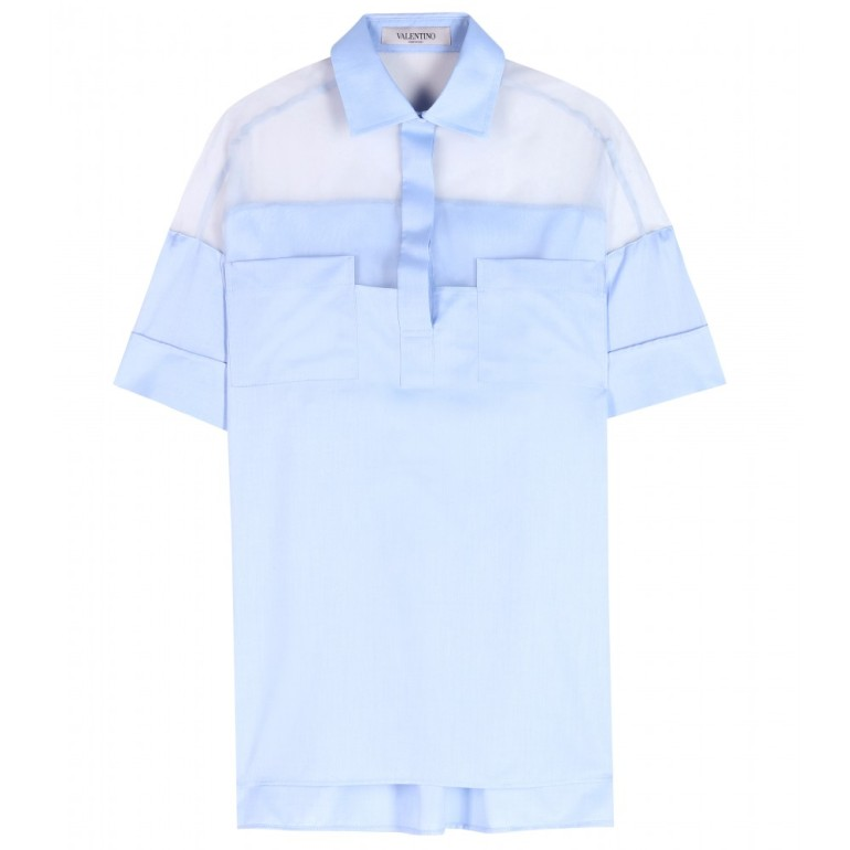 P00096153-Cotton-shirt-with-silk-organza--STANDARD
